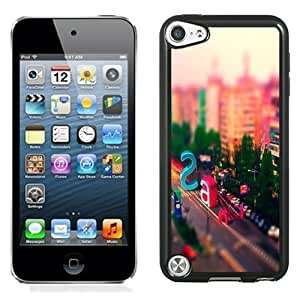 NEW Unique Custom Designed iPod Touch 5 Phone Case With Multicolored City Street Letters_Black Phone Case