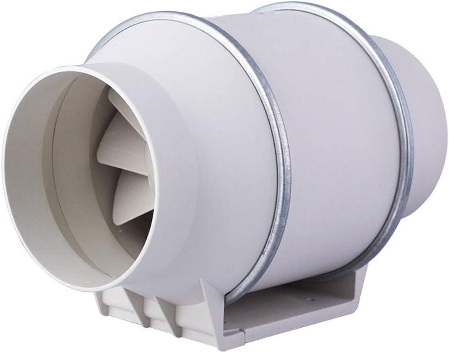 QIQIDEDIAN Ventilador de Escape Conducto Ventilador 4/5/6/8 Pulgadas Ventilación Cocina Potente baño silencioso Ventilador Redondo para extracción de Humos (Size : 4 Inches)