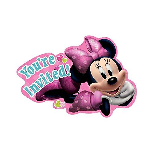 Minnie Mouse 'Bow-Tique' Invitations w/ Envelopes (8ct)