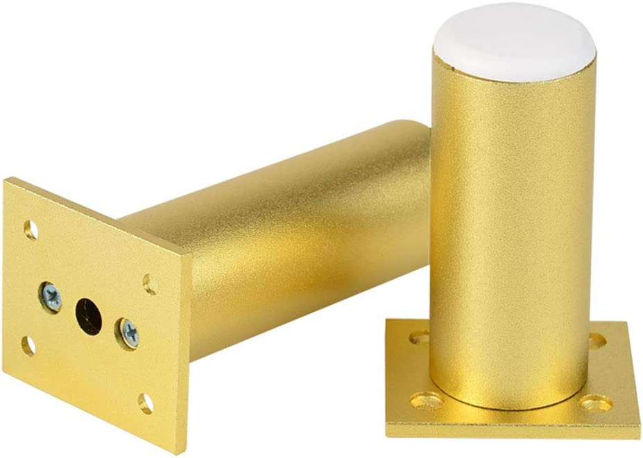 2 Pieces Furniture Legs, Aluminum Alloy Height Adjustable Sofa, Cabinet, Table Foot Legs, Gold