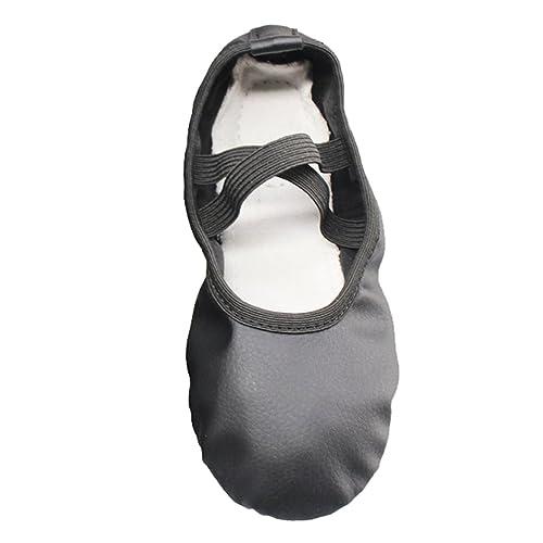 LINNUO Zapatillas Punta de Ballet Suela Partida de Cuero Zapatillas de Ballet para Niños Niñas: Amazon.es: Zapatos y complementos