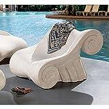 Design Toscano Hadrian's Villa Roman Spa Furniture Collection: Master's Chair