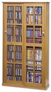Amazon Com Cd Dvd Vhs Sliding Glass Door Storage