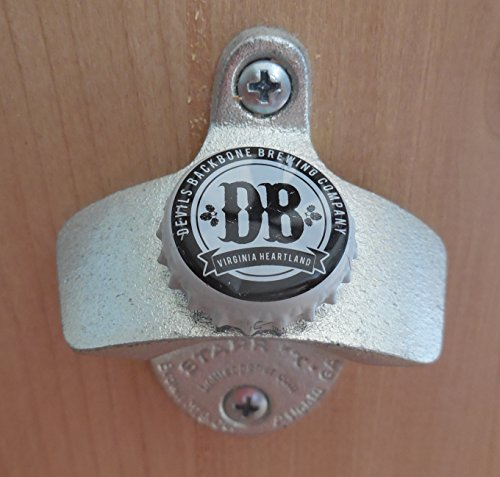 Devils Backbone Cap Starr X Wall Mount Bottle Opener White Cap