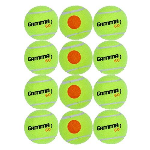 Gamma Sports Kids Training (Transition) Balls, Yellow/Orange Dot, 60 Orange Dot, 12-Pack