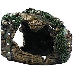 Dalle Craft Broken Barrel Ornament Landscape Decor for Reptile Terrarium