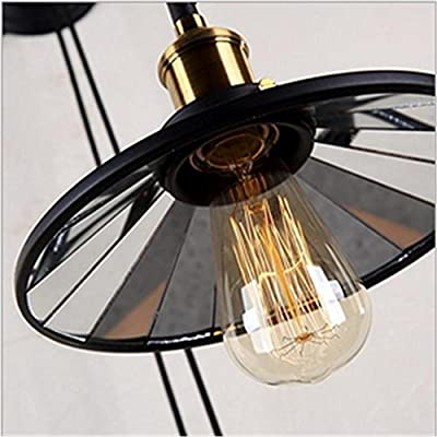 Creative Loft Retro Industry Wall Light Offce Bar Living edside Iron Pulley Lift Wall Lamp, 220V