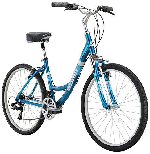 "Diamondback Bicycles Women's Serene Classic 17"" Frame Comfort Bike, Medium/26, Blue"