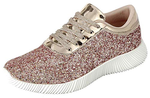 The Collection Jill Womens Athletic Shoes Casual Breathable Sneakers, Rose Gold, ()