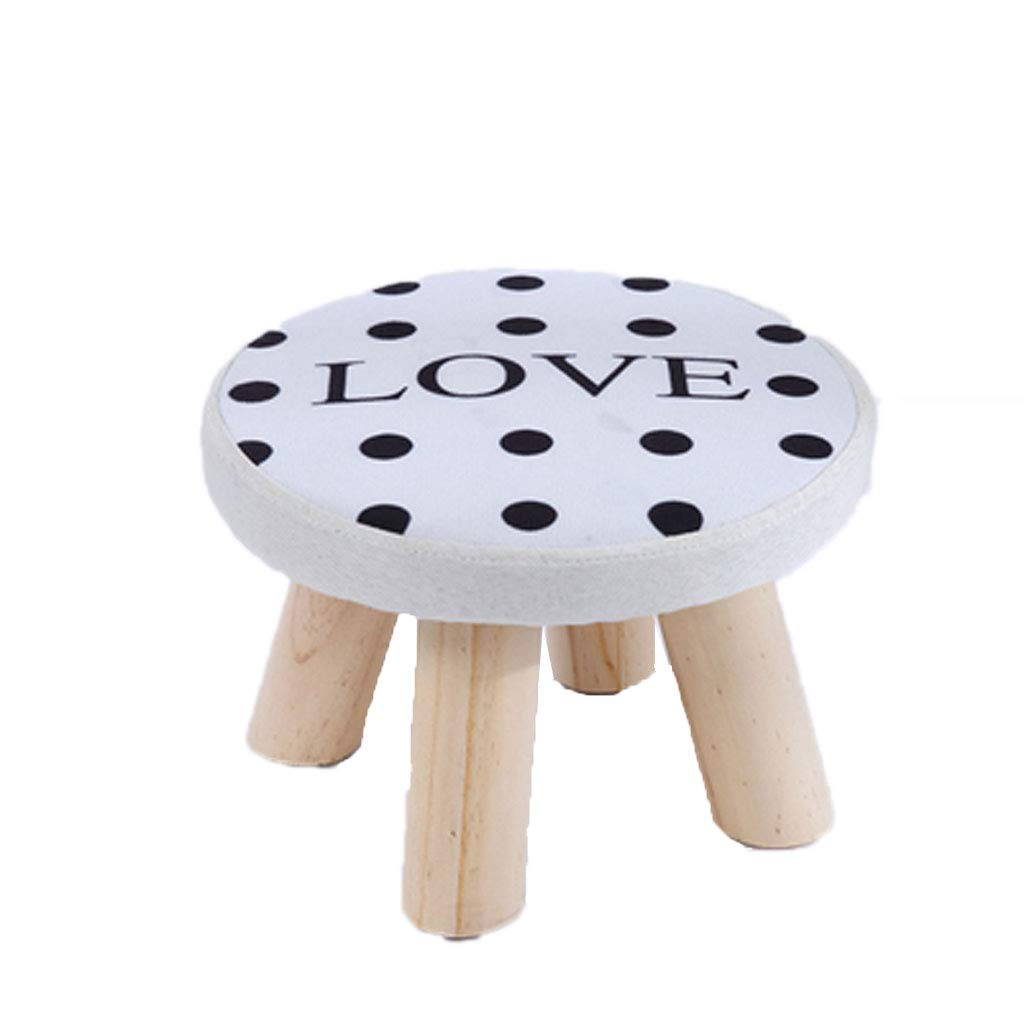 A BRNEBN Stool Wood Sofa Bench Fabric Bench for shoes Bench (color   B)