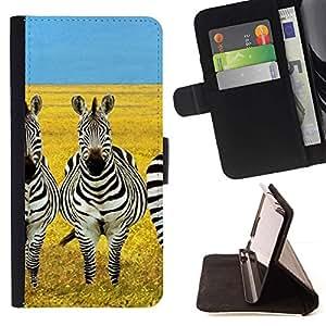 For Samsung Galaxy Note 3 III Case , Savannah África Amarillo Negro Blanco- la tarjeta de Crédito Slots PU Funda de cuero Monedero caso cubierta de piel