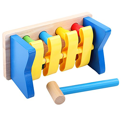 QZM Deluxe Pounding Bench Wooden Toy With Mallet Early Educational Games for Toddlers Kids and Ages 2 years and up by QZM woden toys (Image #6)
