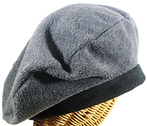 Hat Stuff Loft Women's Fleece Beret In Charcoal