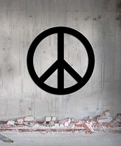 Amazon Com Peace Symbol Wall Art Metal Steel Wall Art 12 X 12 Easy