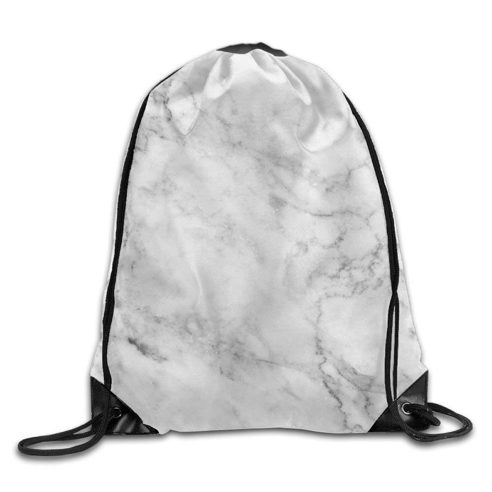 tianjianzulinyouxiangongsi White Marbling Drawstring Backpack Rucksack Shoulder Bags Training Gym Sack for Man and Women