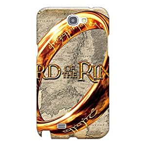 Shock Absorbent Hard Cell-phone Case For Samsung Galaxy Note 2 (evR1155vvpc) Unique Design Colorful Lord Of The Rings Skin