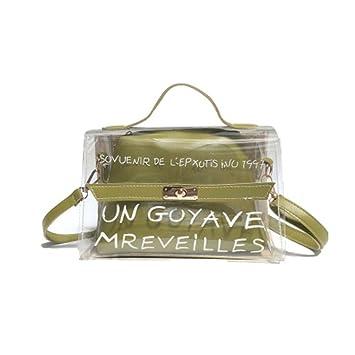 17d924a24d5 LANDUM pour Femme en PVC Transparent Sac à bandoulière fourre-Tout Sacs à  bandoulière d