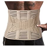 Breathable Lumbar Lower Back Brace Support Belt / Pain Relief and Comfort Posture - Large, Waist/Belly 41½