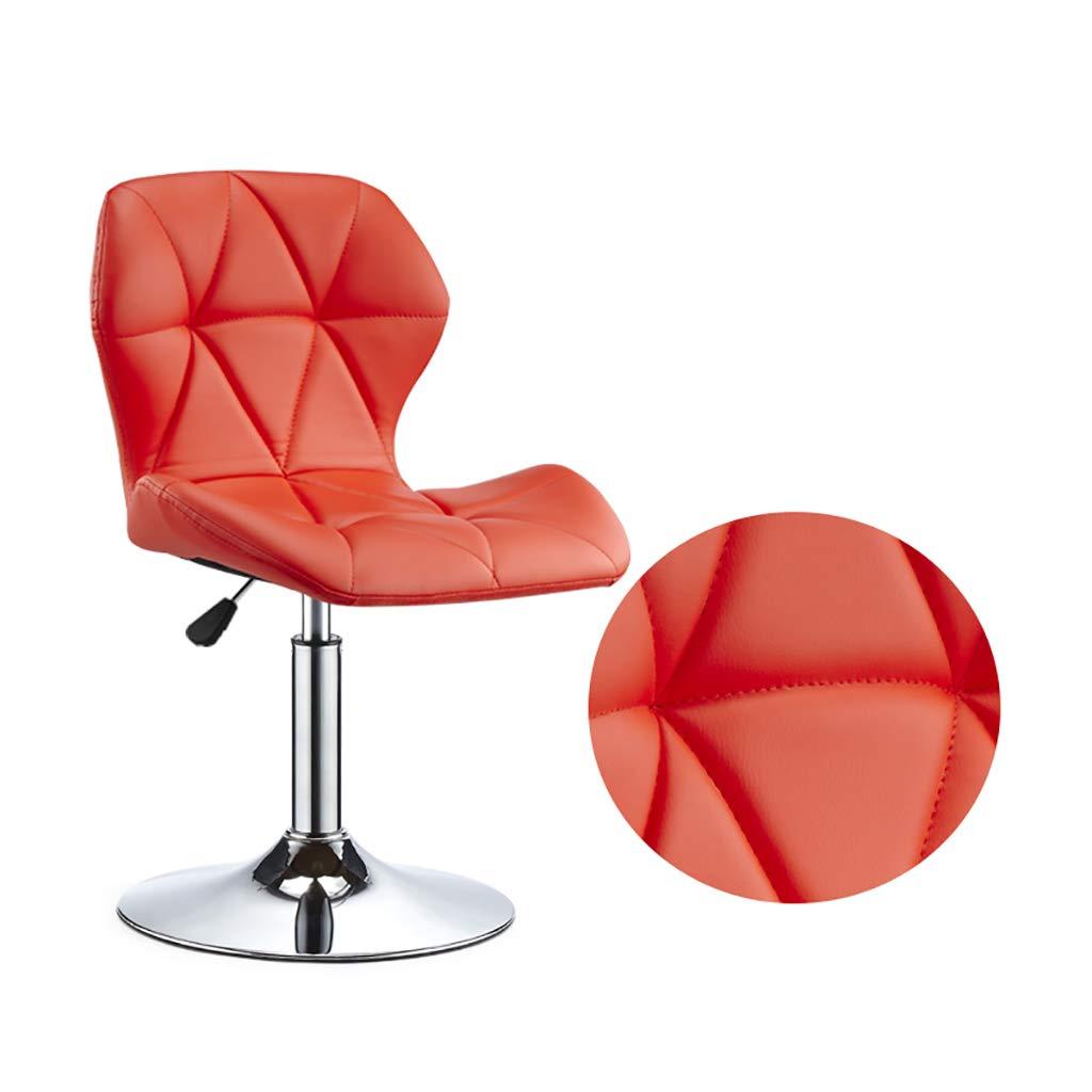 orange RFQ redate Bar Stool, Adjustable Breakfast Leatherette Exterior, Adjustable Swivel Gas Lift, Chrome Footrest and Base for Breakfast Bar,4 colors bar Chair (color   orange)