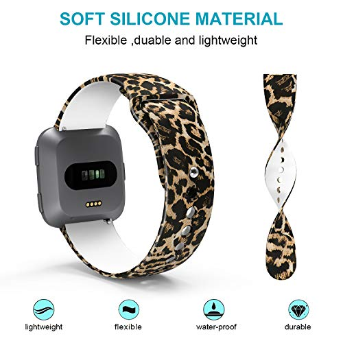 Sunnywoo-Compatible-with-Fitbit-VersaVersa-Lite-Edition-Bands-Soft-Silicone-Fadeless-Floral-Pattern-Printed-Strap-Replacement-Wristband-Fitbit-Versa-Smart-Fitness-Watch-for-Women-Men-Large-Small
