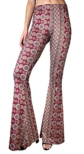 0e90ea48f587d3 Daisy Del Sol High Waist Gypsy Comfy Yoga Ethnic Tribal Stretch 70s Bell  Bottom Flare Pants - Buy Online in Oman. | Apparel Products in Oman - See  Prices, ...