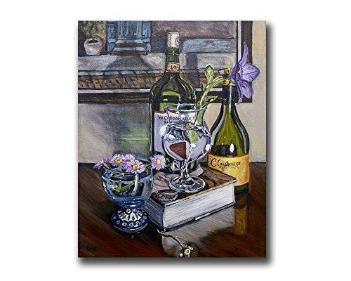 - Polish Pottery Still Life Wall Art Print Giclee for Farmhouse Wine Kitchen Home Decor, size mat option