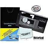 "VW-GTE7E Motorized VHS-C Cassette Adapter for JVC C-P7U CP6BKU C-P6UPanasonic PV-P1RCA VCA115 + 1 VCC113 Micro-Fiber ClothÃ""Â"