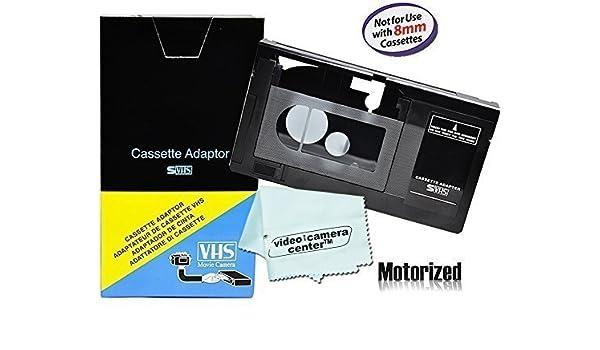 motorizado VHS-C adaptador de casete para JVC c-p7u cp6bku c-p6u, Panasonic pv-p1, RCA vca115 + 1 clothtm vcc113 de microfibra: Amazon.es: Electrónica
