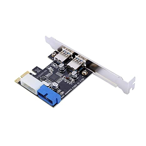 BEYIMEI PCI-E Expansion Card Adapter 5 USB 3.0 Ports PCI-Express Card with 5 External Ports Compatible with Windows XP//Vista // 7//8//10 1 Internal 20-Pin Header,15-Pin Power Connector