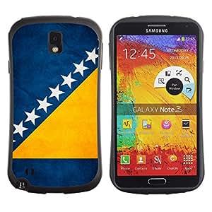 Fuerte Suave TPU GEL Caso Carcasa de Protección Funda para Samsung Note 3 N9000 N9002 N9005 / Business Style National Flag Nation Country Bosnia and Herzegovina