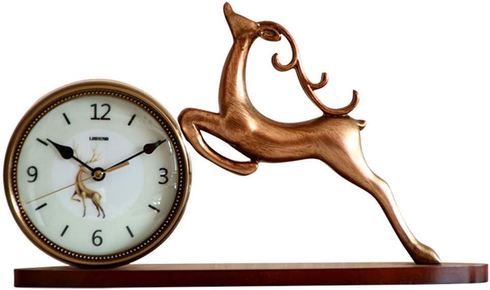 Chuangshengnet 時計台/寝室鹿置時計装飾