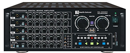 Martin Roland MA3000KII 750W Professional Digital Mixing Amplifier with Built-In SD/USB MP3 Playback Function and Free BTM42 Bluetooth Module