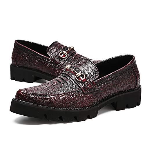 Zapatos Cocodrilo 38 Negro Casual Correa Cuero Impresión Moda Real red Formal Lxjl Vestido Rojo Hombres Y tnxfHqFZzw