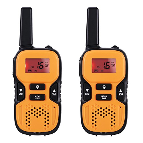 GHB Walkie Talkies Kids Interphones 22 Channel FRS/GMRS Two Way Radio 2 miles up to 3.7 Miles for Home Activities Outdoor Climbing Orange