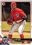 Juan Soto baseball card (Washington Nationals OF) 2018 Topps Bowman #BP52 Rookie