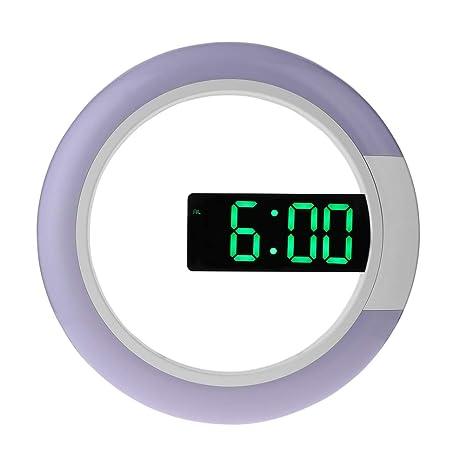 Vosarea El Reloj de Pared Colgante llevó un Reloj Digital con Reloj Despertador con Control Remoto