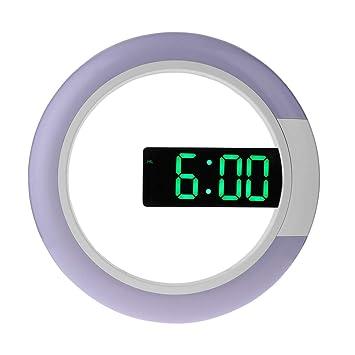 Vosarea El Reloj de Pared Colgante llevó un Reloj Digital con Reloj Despertador con Control Remoto de 12 Pulgadas (Pantalla led Verde): Amazon.es: Hogar