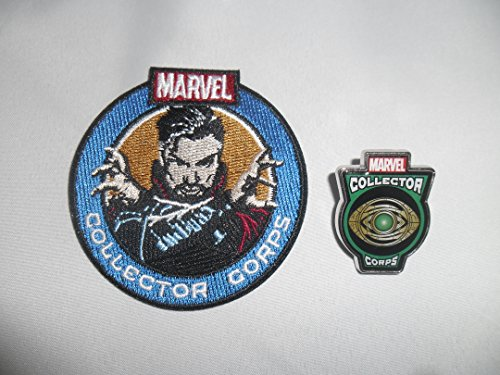 Doctor Strange Patch and Doctor Strange Eye of Agamotto Pin Funko 2016