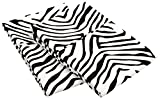 MARRIKAS WRINKLE RESISTANT BRUSHED Microfiber KING Animal Print WHITE BLACK PillowCase PR.