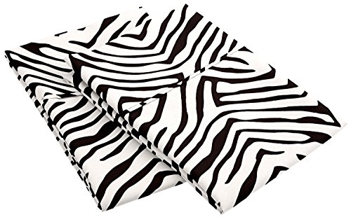 MARRIKAS WRINKLE RESISTANT BRUSHED Microfiber KING Animal Print WHITE BLACK PillowCase PR. by Marrikas
