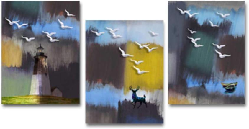 Abstracto Bosque Aves Paisaje Arte de la pared Lienzos Cuadros decorativos Cuadros Impresiones Sala de estar 60x90cm Sin marco Acuarela