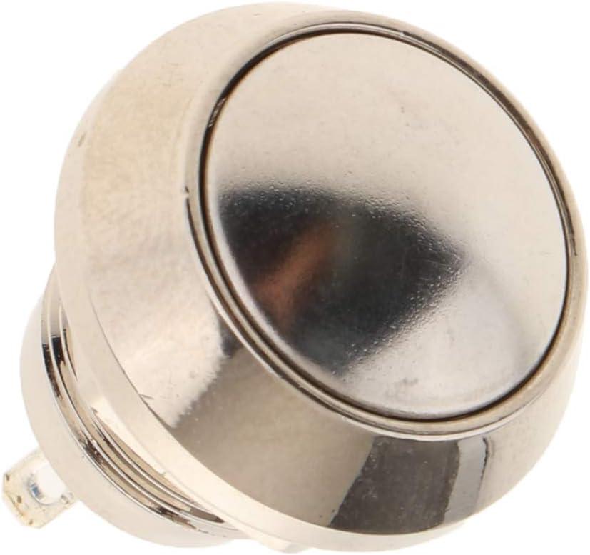 Staubdicht Homyl Drucktaster /Ø 9//13 mm aus Edelstahl A12-P10