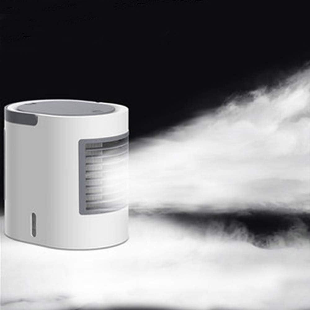 HJL Personal para refrigerador de Aire, 3 en 1 Mini Aire Acondicionado portátil Ventilador Aire Acondicionado, purificador y humidificador con 7 Colores de luz LED, Pink: Amazon.es: Deportes y aire libre