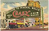 Home of Crazy Crystals Water - Mineral Wells Texas (Vintage Linen Postcard) #15837