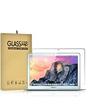 DIEBI Temper Glass Screen Protector for MacBook Air 13 Inch A1369 A1466 A1932 9H Hardness Crystal Clear Scratch Resistant Bubble Free Easy Installation
