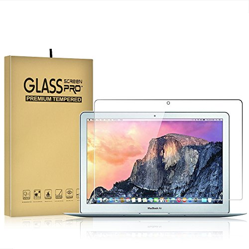 Temper Glass Screen Protector for Macbook Air 13 Inch A1369/A1466 9H Hardness Crystal Clear Scratch Resistant Bubble Free Easy Installation