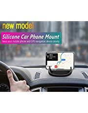 Car Mount, Car Phone Mount Silicone Car Pad Mat for Various Dashboards, Anti-Slip Desk Phone Stand Compatible with iPhone, Samsung, Android Smartphones, GPS Devices and More. (Black)