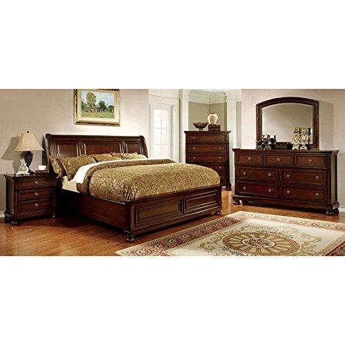 247SHOPATHOME IDF-7682CK-6PC Bedroom Set, California King, Cherry