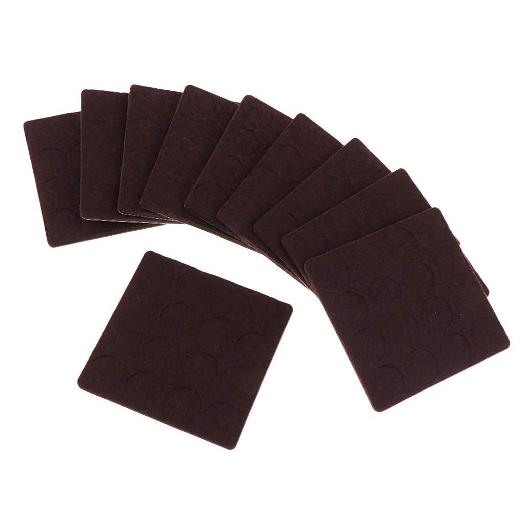 10 Hojas Almohadillas de Fieltro para Muebles Adhesivas ...
