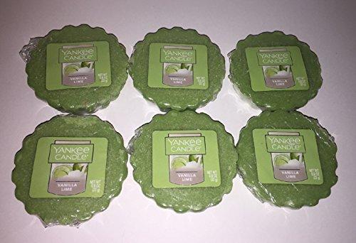 Yankee Candle Lot of 6 Vanilla Lime Tarts Wax Melts